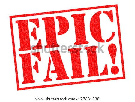 EPIC FAIL! red Rubber Stamp over a white background. - stock photo