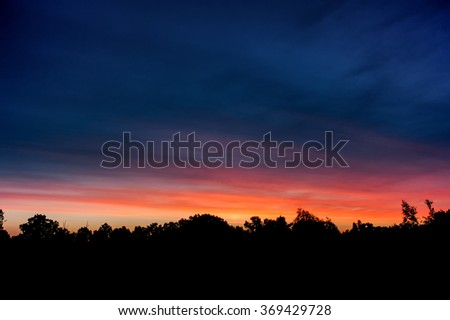 epic sunset sky background - stock photo