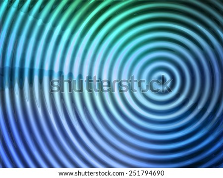 epicenter of  vibration or wave. - stock photo