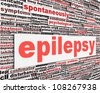 Epilepsy disorder message design. Neurological disorder icon conceptual design - stock photo