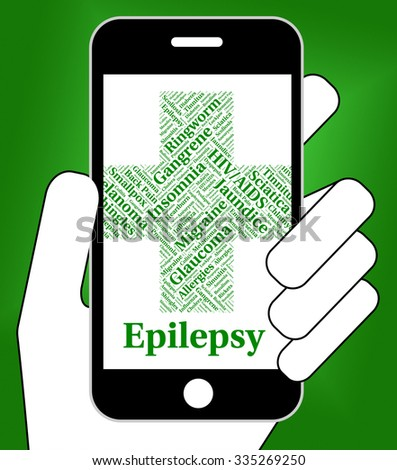 Epilepsy Illness Showing Ailment Sick And Fits - stock photo