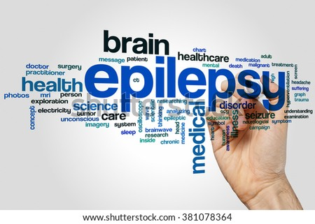 Epilepsy word cloud concept - stock photo