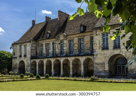Episcopal Palace (bishop's palace) - Garden and Museum Bossuet in Meaux - commune in Seine-et-Marne department in Ile-de-France region in metropolitan area of Paris, France.