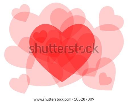 Eps 10 Cute Transparent Heart Symbols Stock Illustration 105287309
