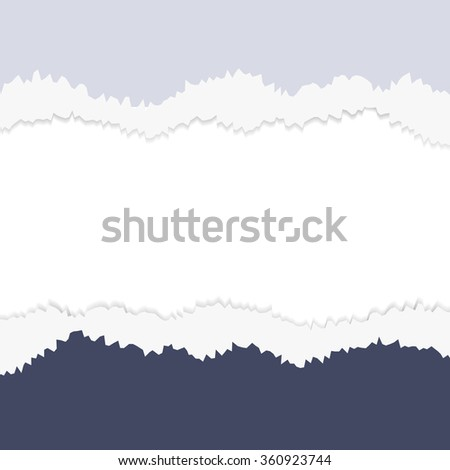EPS10 file.  tear paper brochure background  blue color - stock photo