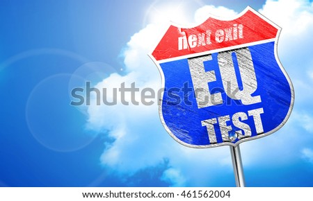 eq test, 3D rendering, blue street sign