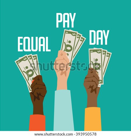 Equal pay day design.  - stock photo