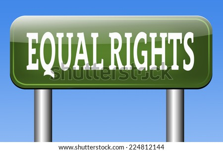 equal rights for all women man disabled black and white solidarity discrimination of people with disability or physical and mental handicap  - stock photo
