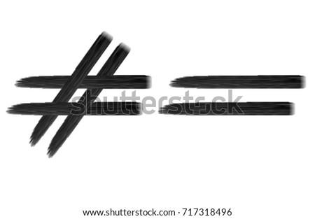 Equal Sign Not Equal Stock Illustration 717318496 Shutterstock