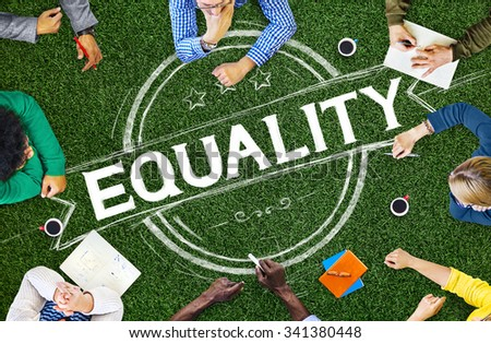 Equality Balance Discrimination Equal Moral Concept - stock photo