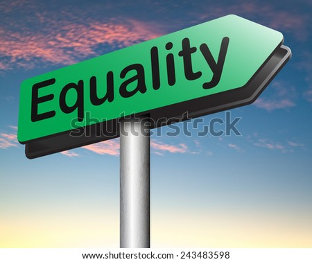 equality dont discriminate and solidarity equal rights and opportunities no discrimination  - stock photo