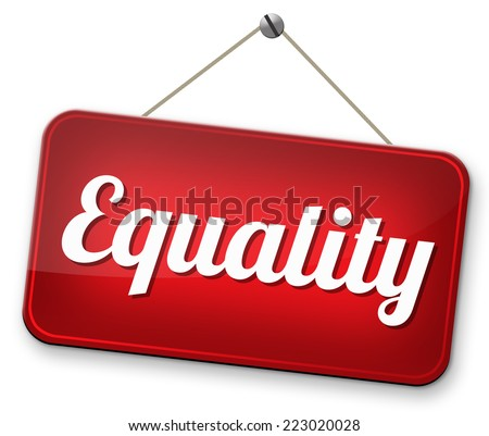 equality for man and women and solidarity equal rights and opportunities no discrimination  - stock photo