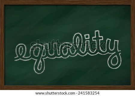 equality word written on chalkboard - stock photo