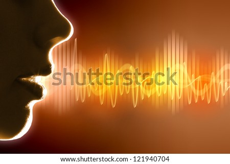 Equalizer sound wave background theme. Colour illustration. - stock photo