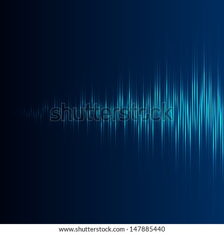 Equalizer with increasing wave - stock photo