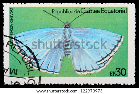 EQUATORIAL GUINEA - CIRCA 1972: stamp printed by Equatorial Guinea, shows Butterfly, circa 1972