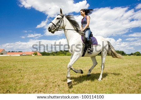 equestrian on horseback - stock photo