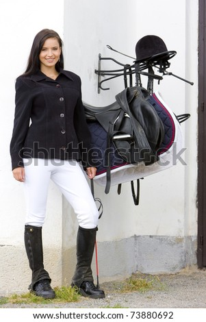 equestrian with saddle