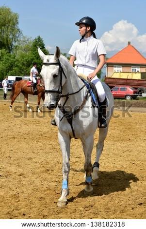equestrianism - stock photo