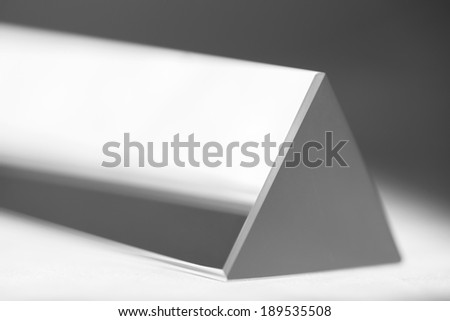 Equilateral prism - stock photo