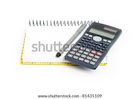 Equipment calculated on a white background.