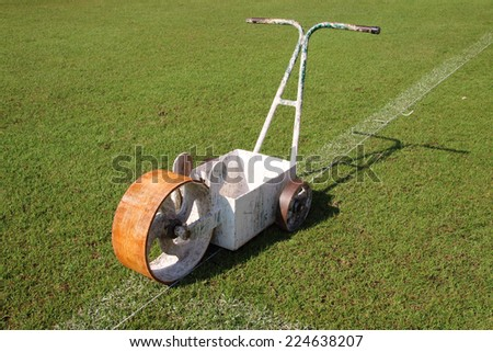Equipment for paint lines football on the field