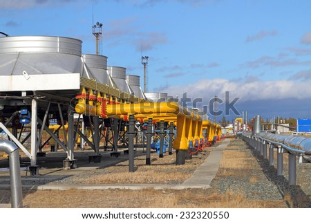 Equipment for processing and transportation of gas