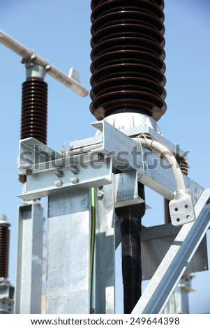 Equipment in outdoor switchgear. - stock photo
