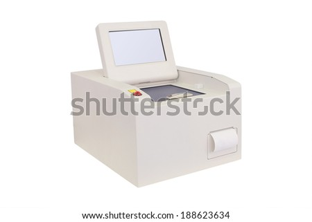 Equipment of a chemical laboratory isolated under the white background
