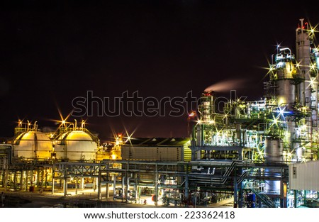Equipment of Petrochemical plant - stock photo