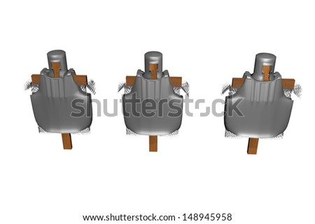 equipment racks - stock photo