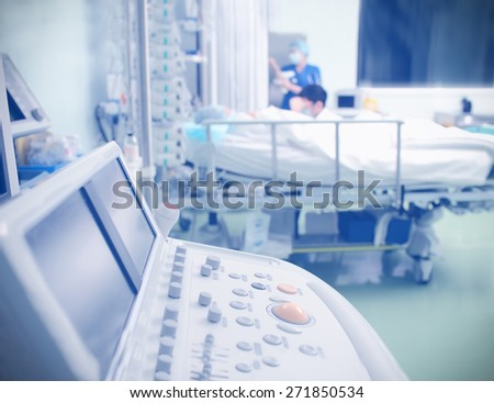 Equipment ward patient in the ICU - stock photo