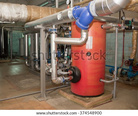 Equipment water boiler - stock photo