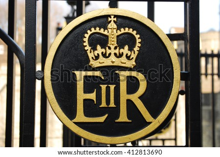 ER represent the legal fiction of the Crown of Queen Elizabeth II on the Tower of London. So EIIR stands for 'Elizabeth II Regina' or 'Queen Elizabeth II'.