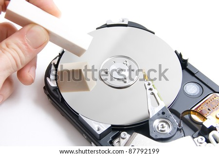 Eraser delete a hard disk of a PC