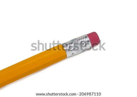 Eraser of Pencil, Yellow Pencil, Clipping Path, isolated
