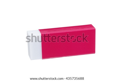 Eraser of red case - stock photo