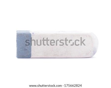 eraser on a white background - stock photo