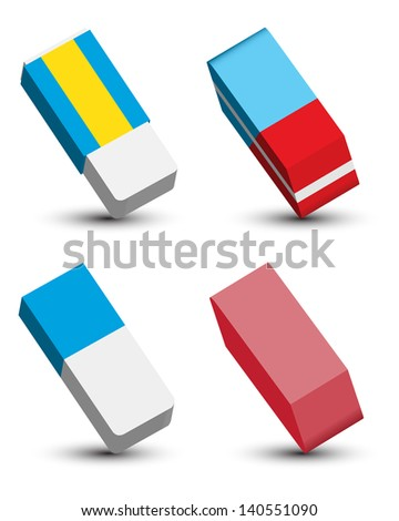 Eraser Set - stock photo
