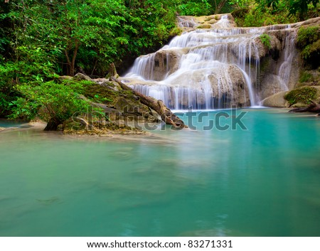 Eravan Waterfall in Thailand