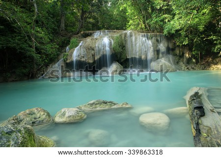 Erawan Waterfall, Erawan National Park in Kanchanaburi, Thailand