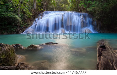 Erawan waterfall National Park Kanjanaburi Thailand