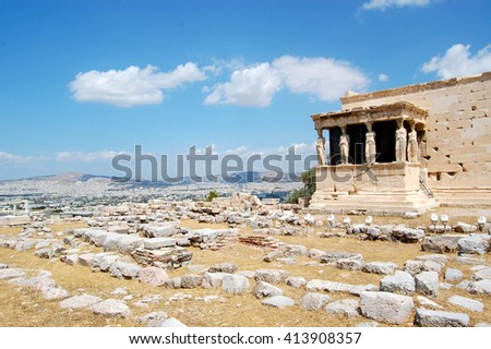 Erechtheion, The Acropolis, Athens Greece