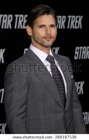 Eric Bana at the Los Angeles premiere of 'Star Trek' held at the Grauman's Chinese Theater in Hollywood on April 30, 2009.  - stock photo