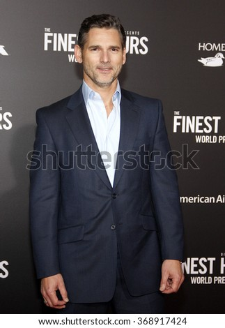 Eric Bana at the World premiere of 'The Finest Hours' held at the TCL Chinese Theatre in Hollywood, USA on January 25, 2016.