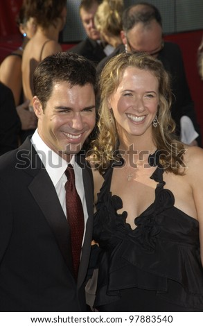 ERIC McCORMACK & wife at the 55t Annual Emmy Awards in Los Angeles. Sept 21, 2003  Paul Smith / Featureflash