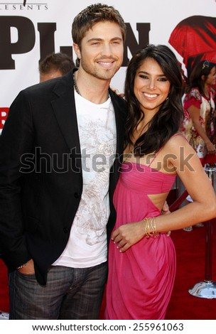 "Eric Winter and Roselyn Sanchez attend the World Premiere of ""The Game Plan"" held at the El Capitan Theater in Hollywood, California, United States on September 23, 2007."