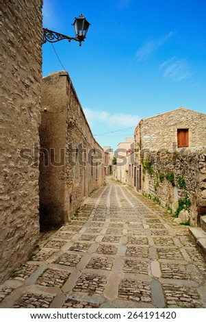 Erice - an ancient city, Sicily, Italy. - stock photo