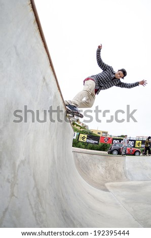 ERICEIRA, PORTUGAL - MAY 10 2014: Pedro Roseiro during the DC King of the Park.
