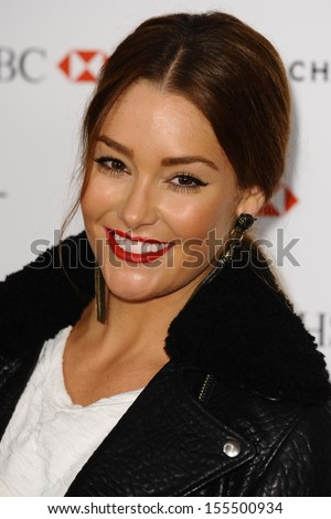 Erin McNaught arriving for the Marie Claire's 25th Anniversary celebration at the Cafe Royal Hotel, London. 17/09/2013